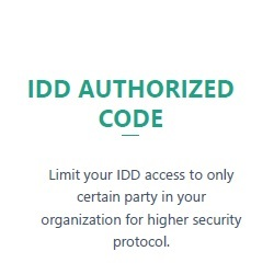 IDD Authorized Code