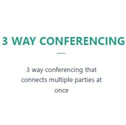 3 Way Conferencing